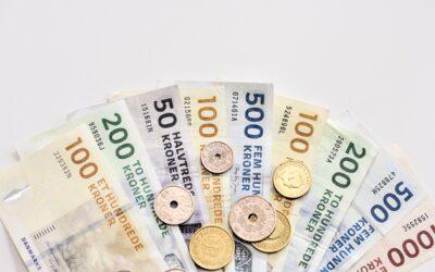Billede af danske pengesedler