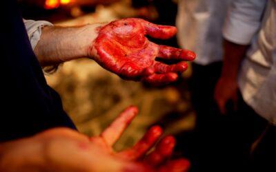 Blod på hænder