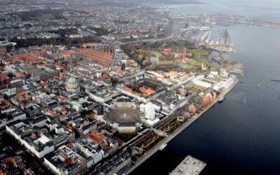 Dronebillede af Københavns centrum