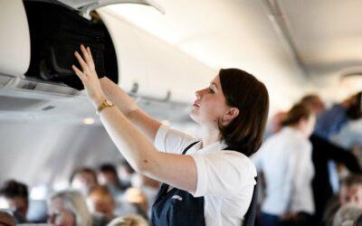 Med stewardesse på arbejde