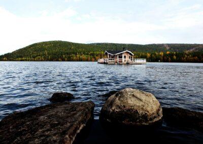 Flydende sauna på sø, er godt for helbreddet