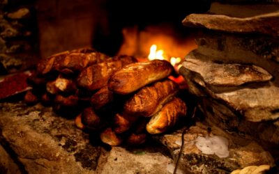 Friskbagt brød over åben ild