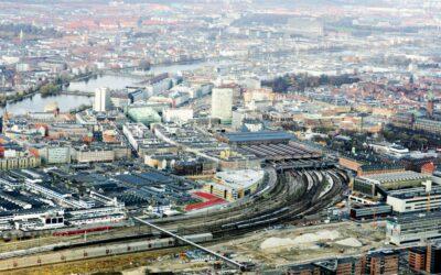 Københavns Hovedbanegård fra luften