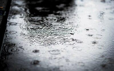 Regndråber og oversvømmelse