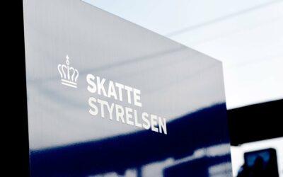 Skattestyrelsen logo og skilt
