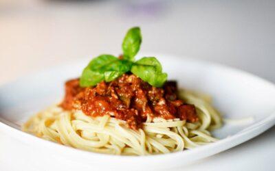 Spaghetti med kødsovs, så englene danser