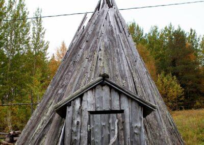 Træhytte i Sverige