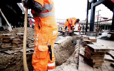 Vejarbejde og jord og betonarbejdere