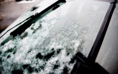Icey car window