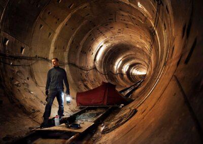 Underground camping