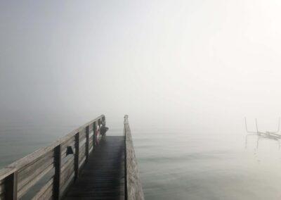 Tåge over havet er et smukt syn