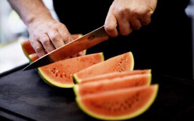 Frisk vandmelon er dejlig på en varm sommerdag
