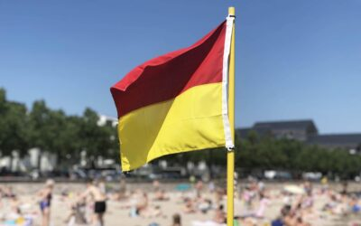 Livredder flaget er tegn på sikkerhed